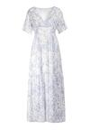 Biało-Niebieska Sukienka Jenieneva