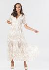 Biało-Beżowa Sukienka Jenieneva