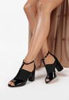 Czarne Sandały Clynilla