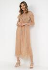 Beżowa Sukienka Characteriz