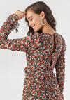 Czarno-Czerwona Sukienka Phialacia
