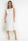 Biała Sukienka Delmanelle