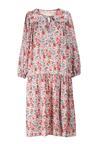 Biało-Różowa Sukienka Mayarena