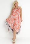 Pomarańczowa Sukienka Adrelise
