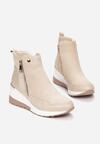 Beżowe Sneakersy Meridelin