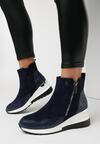 Granatowe Sneakersy Meridelin