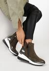 Oliwkowe Sneakersy Meridelin
