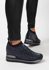 Granatowe Sneakersy Aquashi