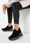 Czarne Sneakersy Evipeia