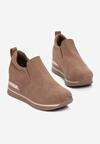 Ciemnobeżowe Sneakersy Evipeia