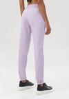 Liliowe Spodnie Dresowe Felyera