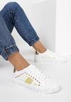 Biało-Złote Sneakersy Olenea