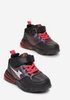 Czarno-Czerwone Buty Sportowe Qinsha