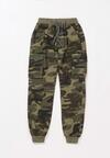 Ciemnozielone Spodnie Phisneth