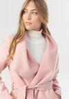 Różowy Płaszcz Tiness