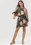 Czarno-Beżowa Sukienka Cheena