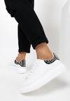Biało-Czarne Sneakersy Yashira