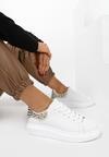 Biało-Złote Sneakersy Yashira
