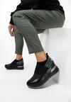 Czarno-Zielone Sneakersy Mapeloris