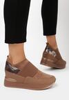 Brązowe Sneakersy Mapeloris