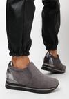 Szare Sneakersy Euthami