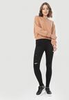 Czarne Spodnie Skinny Xenlenne