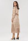 Beżowa Sukienka Ethemea