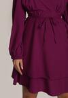 Ciemnofioletowa Sukienka Holaqen