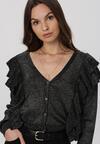 Czarno-Srebrny Sweter Xyrroris