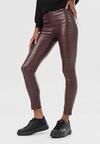 Bordowe Spodnie Skinny Lauden