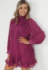 Fioletowa Sukienka Risora