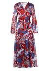 Niebiesko-Czerwona Sukienka Qinynore