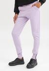 Liliowe Spodnie Dresowe Uhrlenne