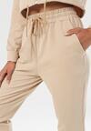 Beżowe Spodnie Dresowe Rhelira