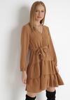 Beżowa Sukienka Wysnell