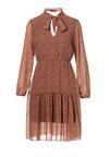 Ciemnobeżowa Sukienka Zaehnessa