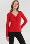 Czerwony Sweter Cahrless