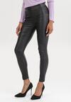 Czarne Spodnie Skinny Eshiroria