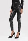 Czarne Spodnie Slim Ariesaya