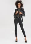 Czarne Spodnie Skinny Ryresh