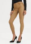 Beżowe Spodnie Skinny Shariana