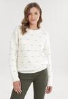 Biały Sweter Rislisa