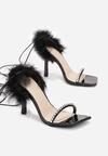 Czarne Sandały Ornixi