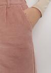 Różowe Spodnie Culottes Rhelvielle