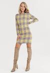 Szaro-Żółta Sukienka Iphislith