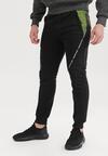 Czarno-Zielone Spodnie Dresowe Sharlea