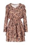 Ciemnobeżowa Sukienka Drentyse