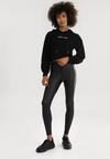 Czarne Spodnie Skinny Phalithise