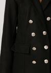 Czarny Płaszcz Talone