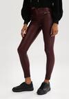 Bordowe Spodnie Skinny Klemene